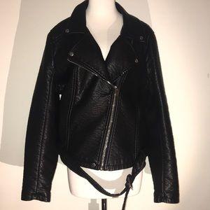 Faux Leather Moto Jacket- HOT! 🔥